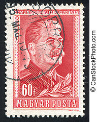 Joseph Stalin - HUNGARY - CIRCA 1949: stamp printed by...