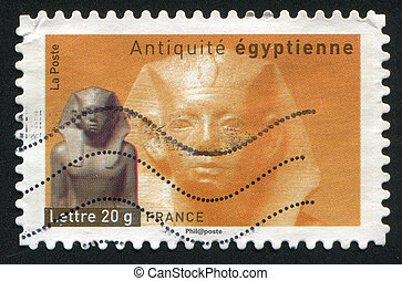 King Amenemhet III of Egypt - FRANCE - CIRCA 2007: stamp...