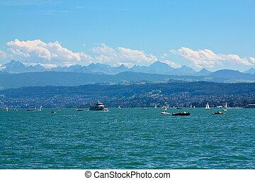 Zurich lake - Lake at Zurich, Switzerland