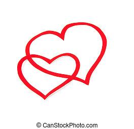 Paper heart valentine