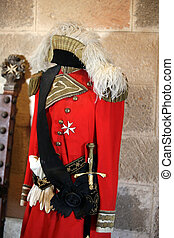 Offers uniforms the Knights of Malta