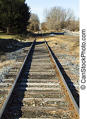 Railroad Track - View of railroad tracks