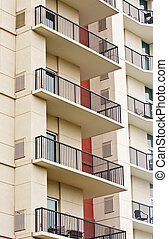 Balconies with Black Wrought Iron Railings - Balconies on a...