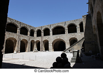 Rhodes - the medieval building of the Hospital of the...
