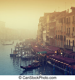 Grand Canal in thick fog.