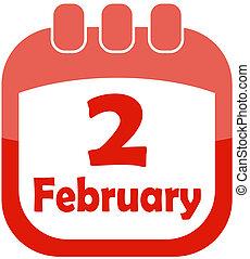 Icon February 2 calendar