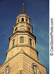St Philips Episcopal Churchin downtown of Charleston, South...