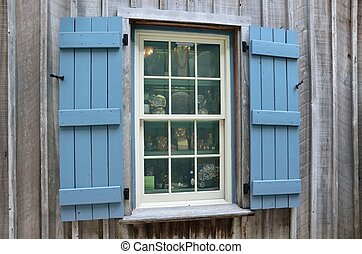 Old Store Front Window - Old store front window at historic...