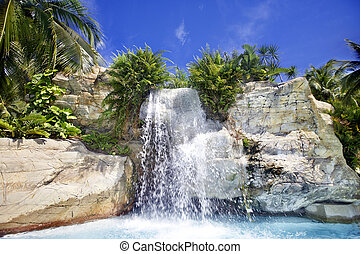 山, 瀑布, 馬來西亞, 雨林