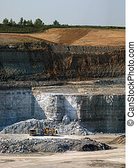 Limestone quarry - This limestone from this quarry is used...