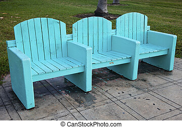 Art deco style park bench