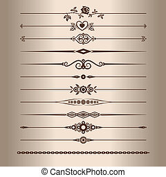 Decorative lines - Elements for a vintage design -...