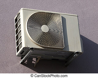 airconditioner - outdoor unir of airconditioner hooked on...