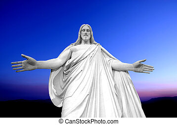 Statue of Jesus Christ with hands outstretched