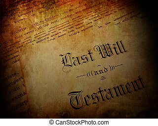 Vintage Last Will and Testament - Vintage Envelope with Last...