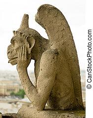 Chimera of Notre Dame de Paris.