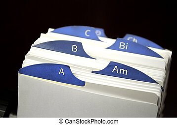 Index Cards of Business