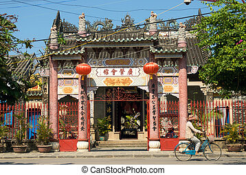 Vietnamese temple - Quang Dong Assembly Hall, Hoi An, Viet...
