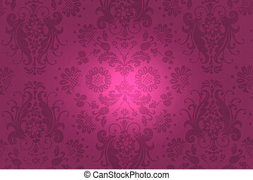burgundy brocade - Burgundy damask design with illumination