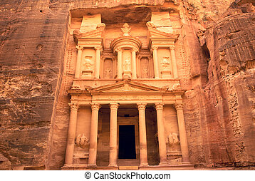 Petra's Tresure - Ancient temple of Petra, Jordan