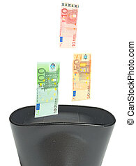 Recycling of euro - Crisis of euro as symbol