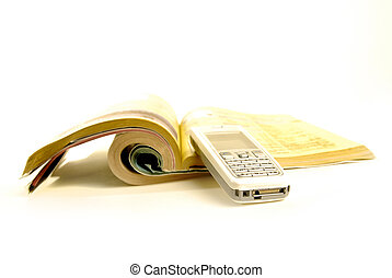 Cellphone and Yellowpages - Phonebook with yellowpages...