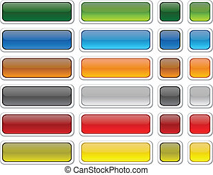 Web blank buttons - Blank web color buttons Vector