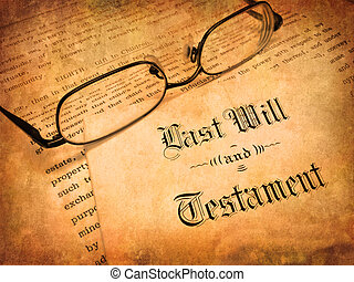 Last Will and Testament - Envelope with Last Will and...