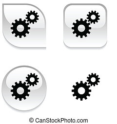Settings glossy button. - Settings glossy vibrant web...