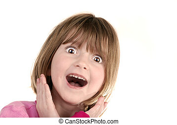 Surprised Young Girl - Young girl with surprised look...