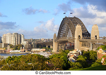 Sydney Harbour Bridge viewed from Observatory Hill