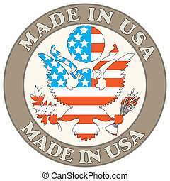 Made in USA symbol - The vector image of color Made in USA...