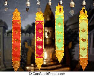 Magic paper decoration in Wat doi Suthep, Thailand