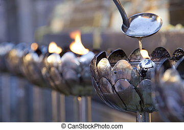 Siver lotus lamp on Doi suthep, Thailand