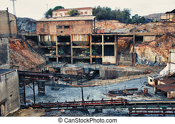 Mining industry - Abandoned mines of Tharsis, Huelva - Spain