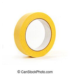 Masking tape - Large roll of masking or duct tape over a...