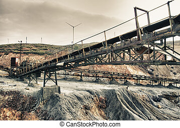 Area mining - Abandoned mine workshops former mining...