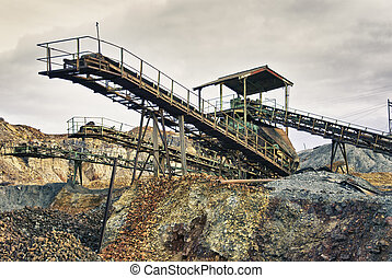 Excavation metal outdoor mine - Abandoned mines copper, gold...