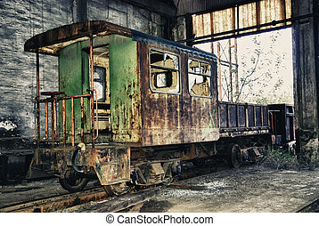 Rusty Train - Abandoned train of Spain
