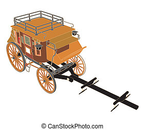 Stagecoach Without Horses Vector