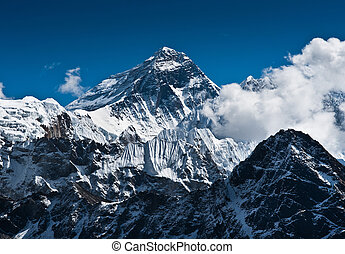 Everest Mountain Peak - the top of the world 8848 m