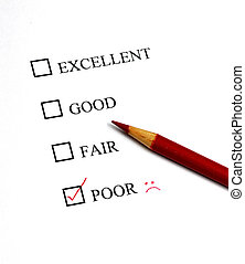 Check Mark for Excellent - Checklist of Options from...