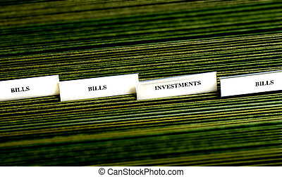 Bills Organized in Filings Tabs - File tabs for bills and...