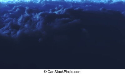 Night sky - Beautiful pan shot over clouds at night