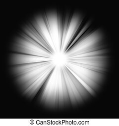 Abstract Beams of Light on black - Abstract Beams of bright...