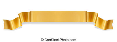 Orange ribbon banner - Elegance orange ribbon banner with...