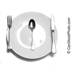 Dinner Place Setting at Table - Dinner place setting with...