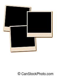 Old Film Frames - Several old instant film frames on an...