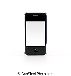 Smartphone - Isolated smartphone on white backgound