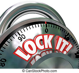 Lock It Combination Lock Security Protection - The words...